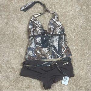 Women's Realtree Two Piece Swim Suit XL NWT